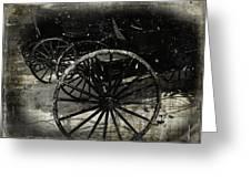 Amish Cart Wheels Grunge Greeting Card