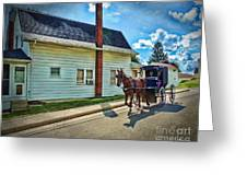 Amish Country Ride Greeting Card