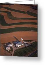 Amish Farm And Field Aerial Greeting Card by Blair Seitz