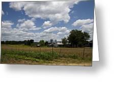 Amish Farm Landscape Greeting Card