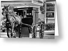 Amish Gas Greeting Card