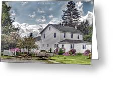 Amish Homestead Greeting Card