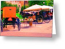 Amish Market. Greeting Card