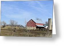 Amish Panorama Greeting Card
