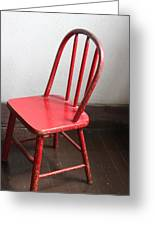 Amish Red Chair Greeting Card