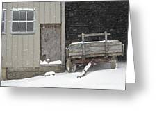 Amish Snowfall Greeting Card