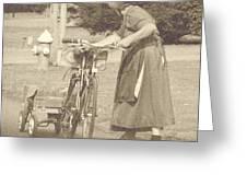 Amish Times Greeting Card