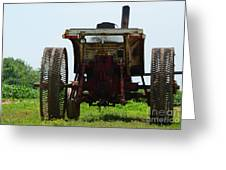 Amish Tractor Greeting Card