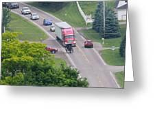 Amish Traffic Jam Greeting Card
