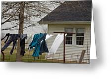 Amish Washday - Allen County Indiana Greeting Card