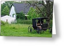 Amish Way Of Life Greeting Card