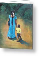 Amma's Grip Leads. Greeting Card by Usha Shantharam