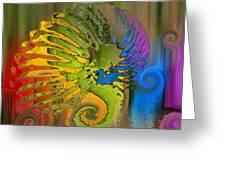 Ammonite 2 Greeting Card by Soumya Bouchachi