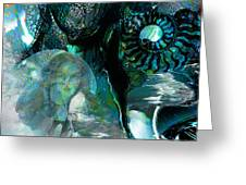 Ammonite Seascape Greeting Card