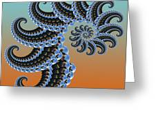 Ammonite Greeting Card by Soumya Bouchachi