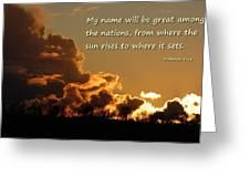 Among Nations Greeting Card