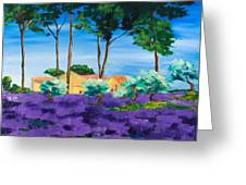 Among The Lavender Greeting Card