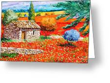 Among The Poppies Greeting Card