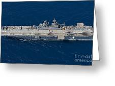 Amphibious Assault Ship Uss Bonhomme Greeting Card