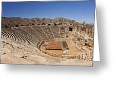 Amphitheatre In Side Turkey Greeting Card