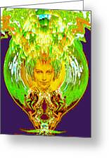 Amphora Of Fire Greeting Card