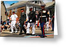 Amred Forces Salute Greeting Card by James Kirkikis