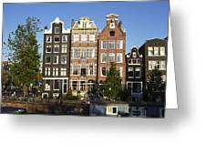 Amsterdam - Old Houses At The Herengracht Greeting Card
