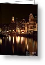 Amsterdam At Night Greeting Card