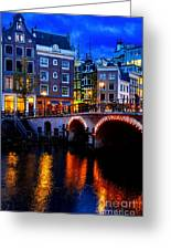 Amsterdam At Night II Greeting Card