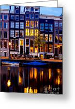 Amsterdam At Night IIi Greeting Card