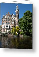 Amsterdam Canal Mansions - The Dainty Tower Greeting Card
