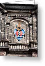 Amsterdam Coat Of Arms On Westerkerk Tower Greeting Card