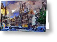 Amsterdam Daily Life Greeting Card