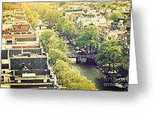Amsterdam Holland Netherlands In Vintage Style Greeting Card