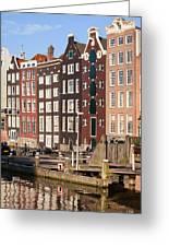 Amsterdam Houses Ar Sunset Greeting Card