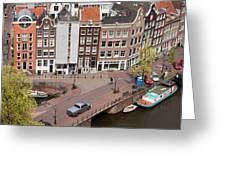 Amsterdam Houses From Above Greeting Card
