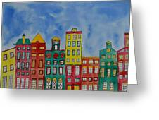 Amsterdam Houses Greeting Card by Shruti Prasad