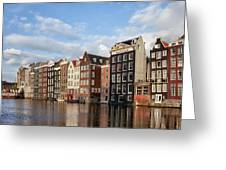 Amsterdam Old Town At Sunset Greeting Card