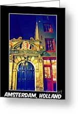 Amsterdam Postcard Greeting Card