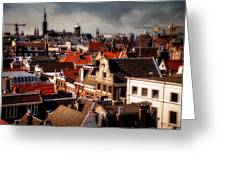 Amsterdam Roofs. View From Metz Cafe Greeting Card