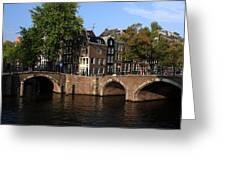 Amsterdam Stone Arch Bridges Greeting Card