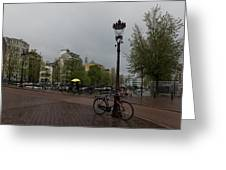 Amsterdam - The Yellow Umbrella Greeting Card