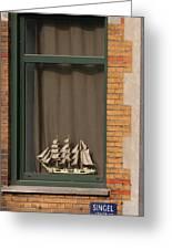 Amsterdam Window  #6 Greeting Card