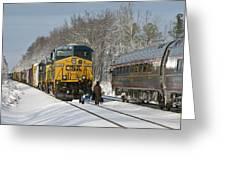 Amtrak And Csx Crews Greeting Card