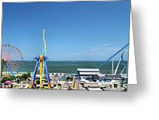 Amusement Park View Greeting Card