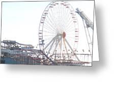 Amusement Rides At Wildwood Nj Greeting Card