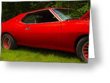 Amx Muscle Car Greeting Card