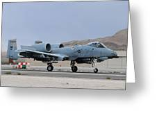 An A-10c Thunderbolt II Landing Greeting Card