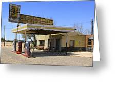An Abandon Gas Station On Route 66 Greeting Card