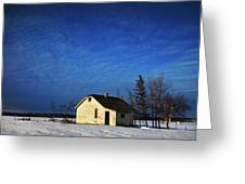 An Abandoned Homestead On A Snow Greeting Card